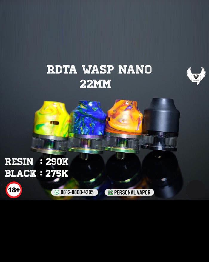 Oumier Wasp Nano RDTA 22mm Black (Authentic)
