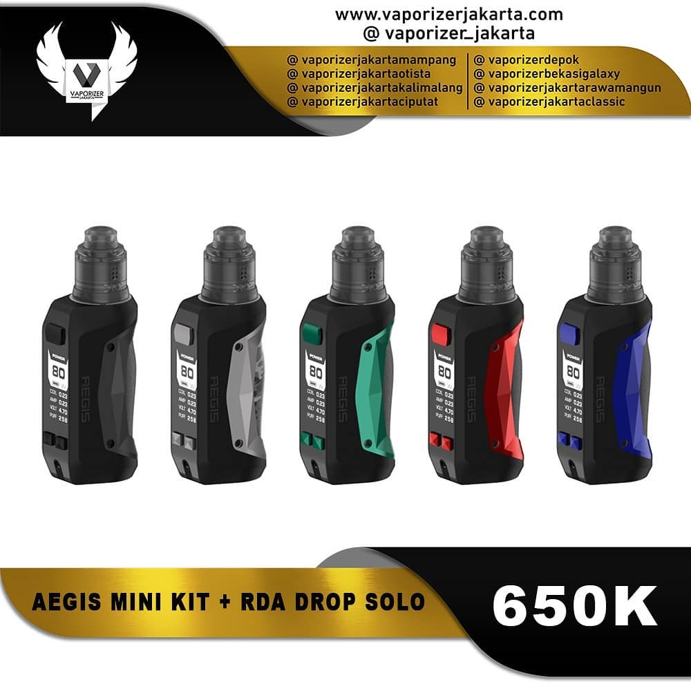 AEGIS MINI KIT + DROP SOLO RDA (Authentic)