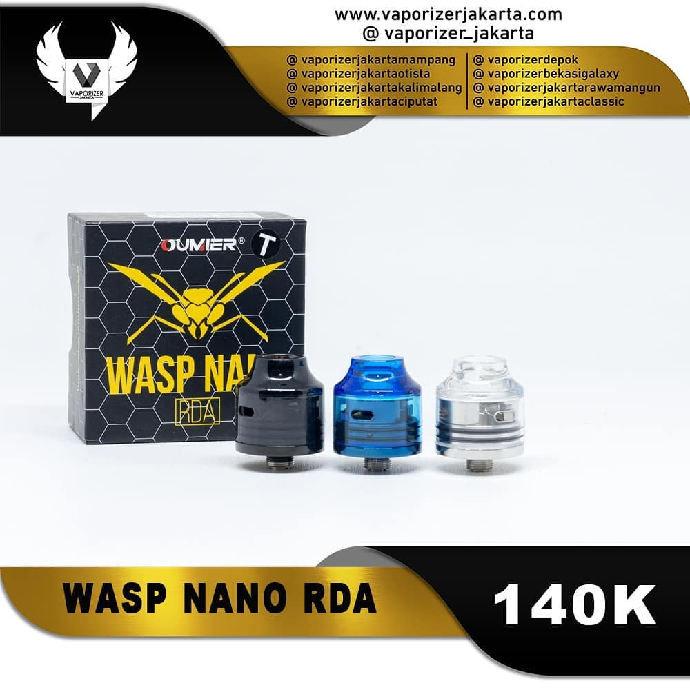 WASP NANO CLEAR CAP 22MM RDA (Authentic)